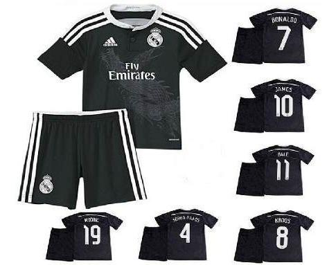 kit infantil real madrid conj camisa shorts - pronta entrega