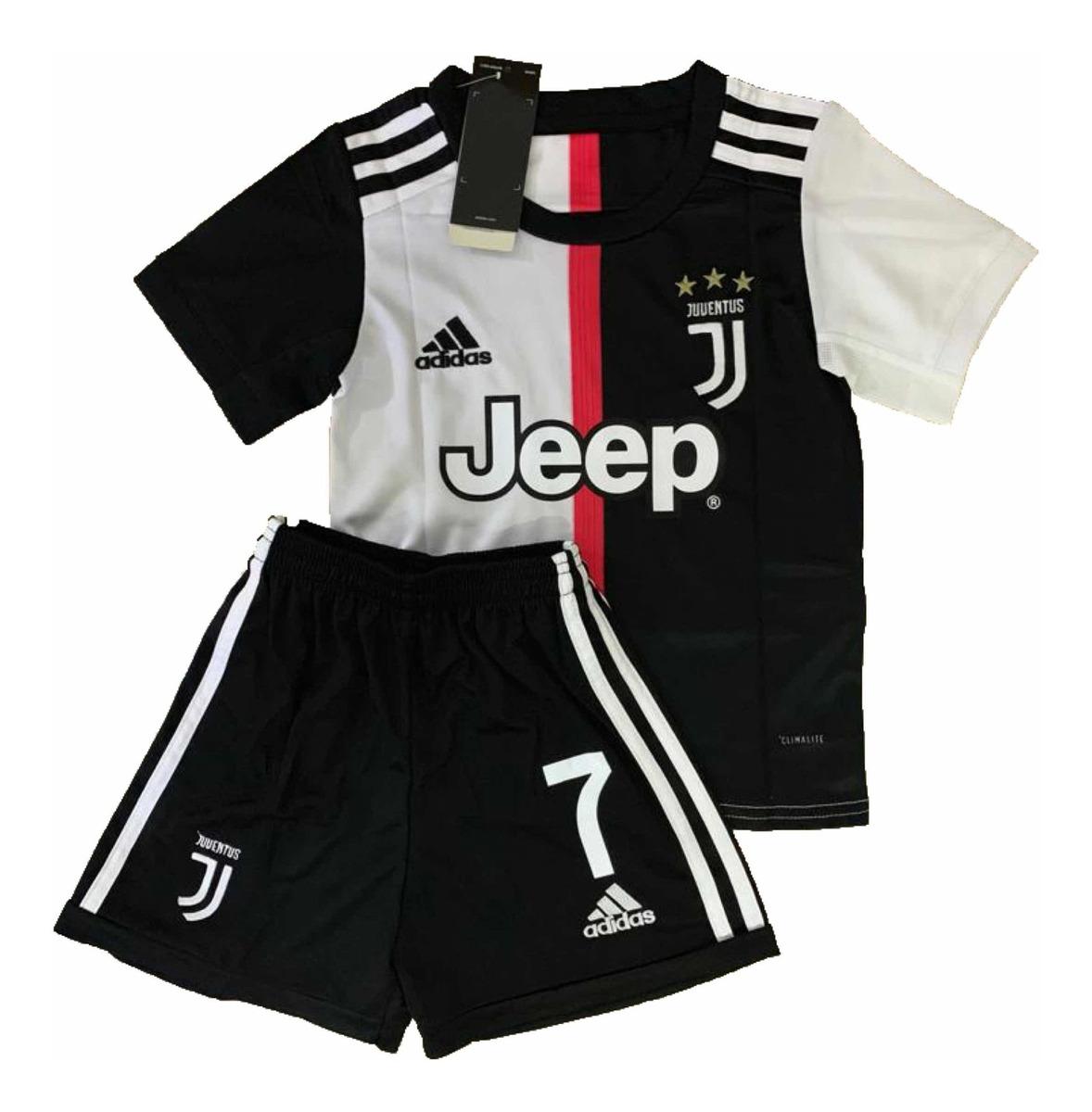 3d88af68a7 Kit Infantil Ronaldo 19/20 Preto Lançamento- Frete Grátis - R$ 149 ...