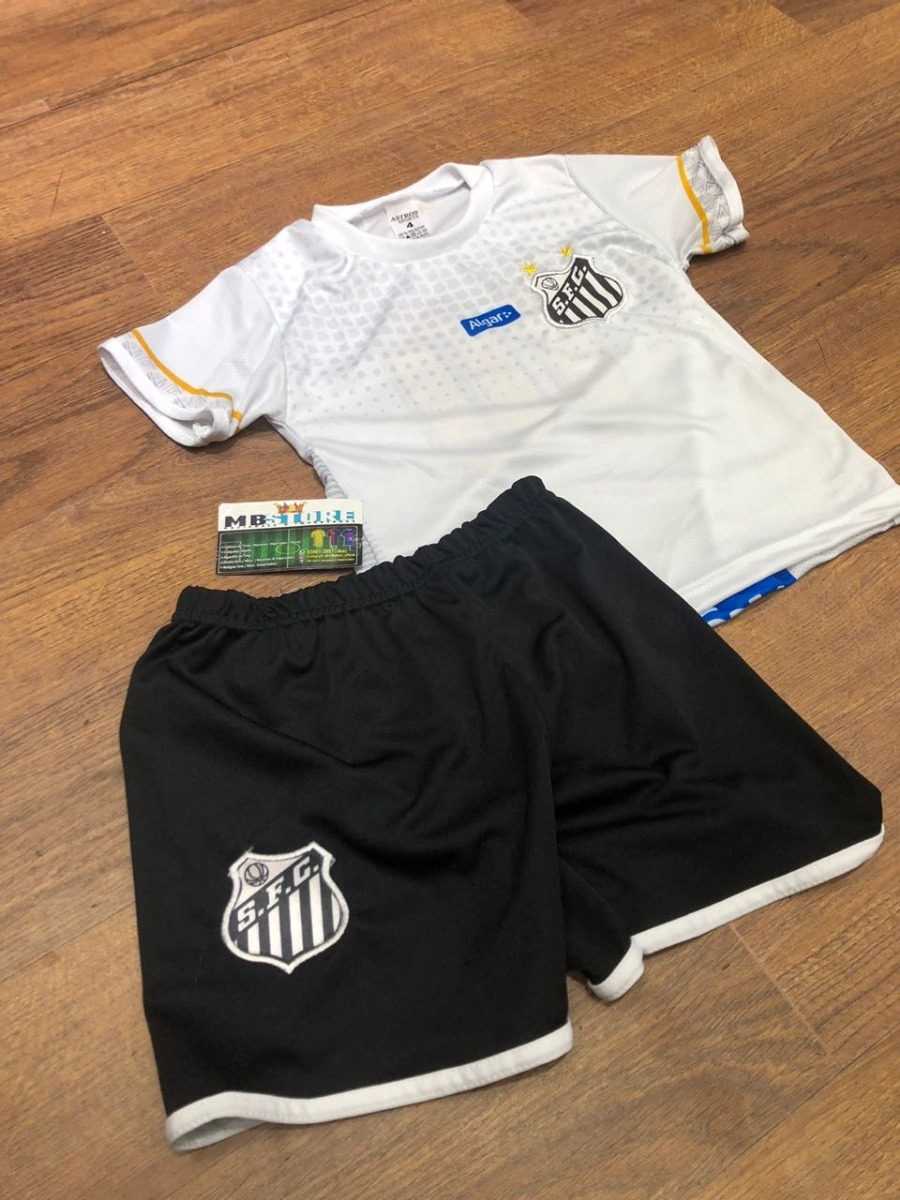 8e1001a0e8 kit infantil santos f.c. 2018 uniforme criança. Carregando zoom.