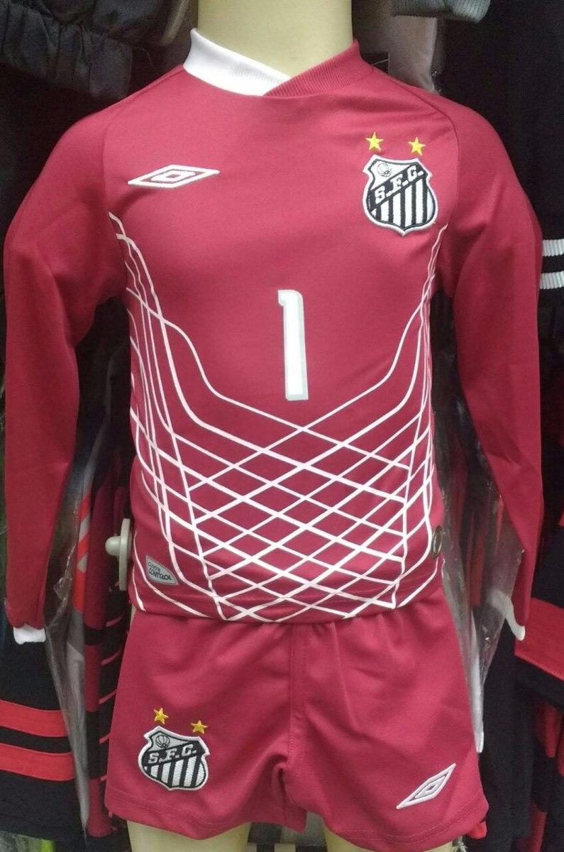 57f3a7e19a kit infantil santos goleiro umbro camisa + shorts + meião. Carregando zoom.