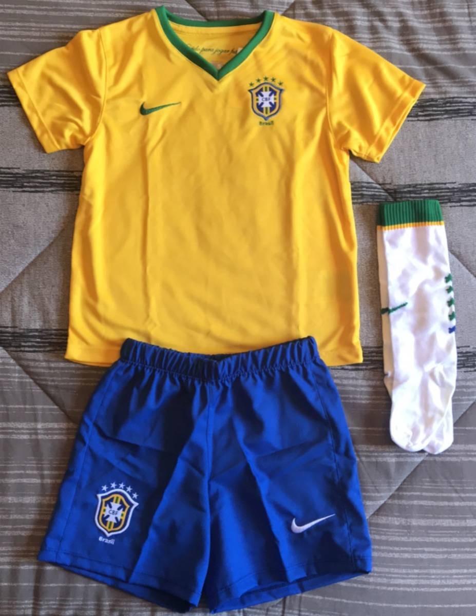 kit infantil seleção brasileira cfb nike original. Carregando zoom. 759fe003995c7