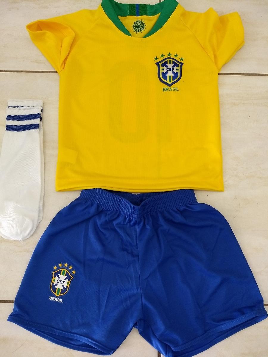 kit infantil seleção brasileira copa + nome personalizado. Carregando zoom. bd5843f669278