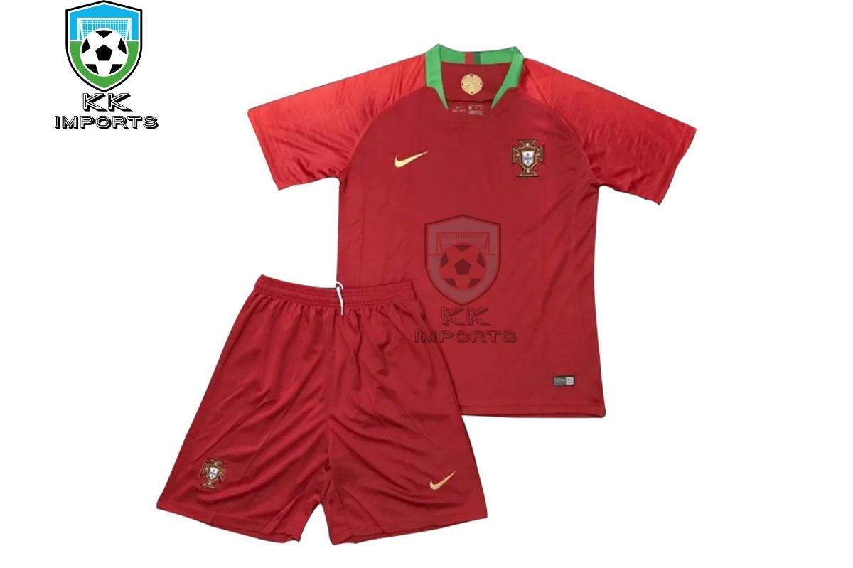 413c8a0db kit infantil seleção portugal 2018 uniforme 1 sob encomenda. Carregando zoom .