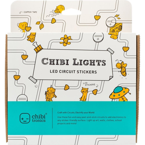 kit inicial chibitronics chibi lights luces led scrapbook