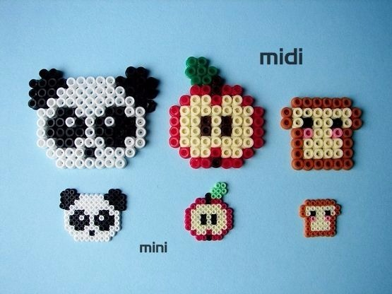 kit inicial mini con 2400pz mini perler hama beads en mercado libre. Black Bedroom Furniture Sets. Home Design Ideas