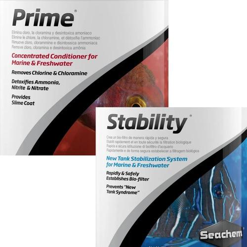 kit inicio principante acuarios prime 50ml + stability 100ml