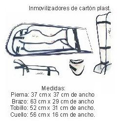 kit inmovilizadores emergencia cartonplast primeros auxilios
