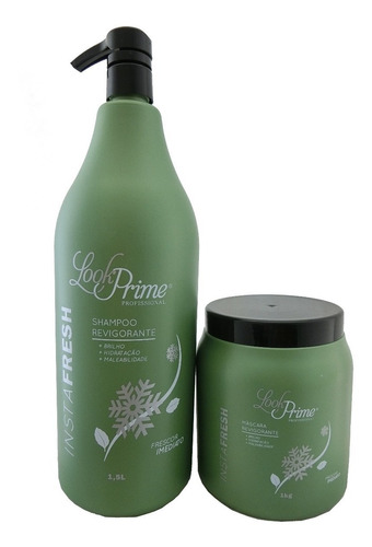 kit instafresh look prime profissional shampoo+máscara