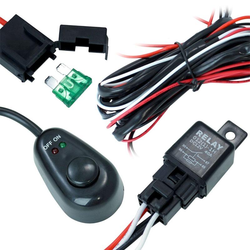kit instalacion barra led off road cable relay switch en mercado libre. Black Bedroom Furniture Sets. Home Design Ideas