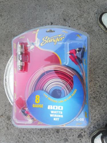 kit instalacion calibre 8 amplificador fuente stinger