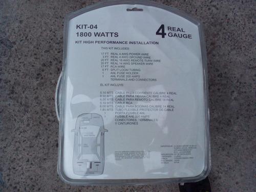 kit instalacion para amplificador stinger calibre 4