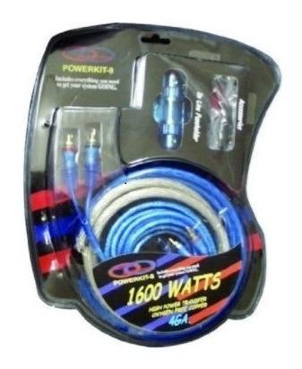 kit instalacion sonido planta cable #4 aguanta 2000 watts
