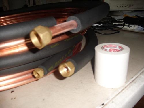 kit  instalacion split 2200/3000/4500  frigorias por metro