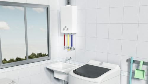kit instalação completo para aquecedor de passagem a gás