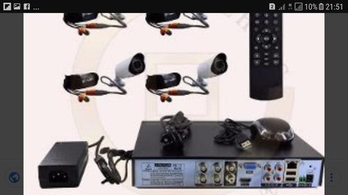 kit instalado 4 câmeras residencial ou comercial