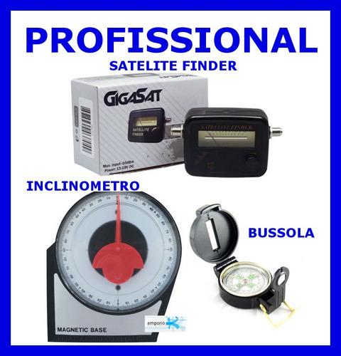 kit instalador parabolica bussola sat finder inclinometro
