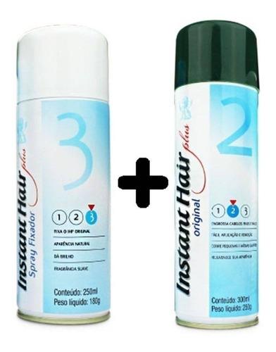 kit instant hair plus maquiagem + selante fixador