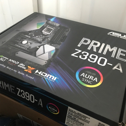kit intel core i5 8600k asus prime z390a + 8gb ddr4 novo