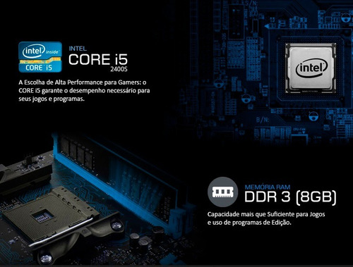 kit intel i5 2400s 3.3 ghz + placa h61 + 8gb ram + nfe