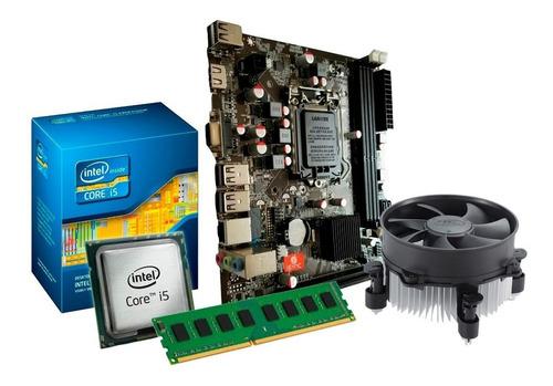 kit intel i5 2400s 3.3ghz + placa h61 + 4gb ram + nfe