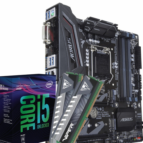 kit intel i5 8400 + gigabyte z370m aorus gaming + 16gb ddr4