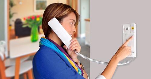 kit intercomunicador, 3 teléfonos + portero, yale