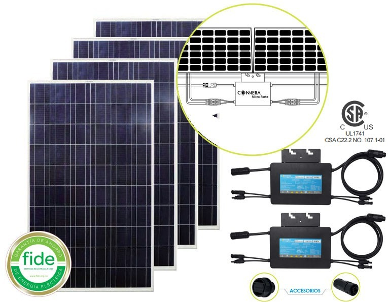 Kit Interconexion A Cfe 4 Paneles Solares 260 Watts 2