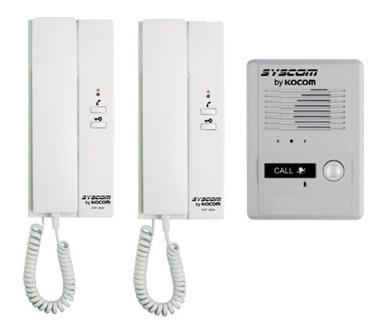 kit interfon con 2 auriculares intercomunicado kdp602a epcom