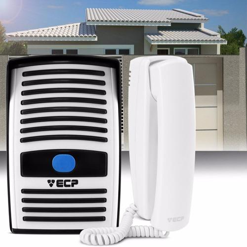 kit interfone residencial porteiro eletrônico monofone ecp