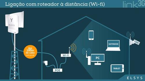 kit internet móvel modem elsys link 3g + roteador wi-fi