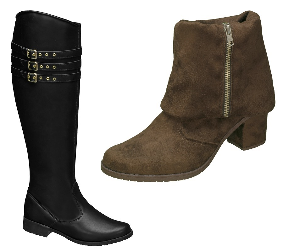 kit inverno 2 pares bota feminina preta   bota salto marrom. Carregando  zoom. 858c35804084a