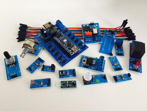 kit iot gbk robotics arduino + esp 8266 + módulos