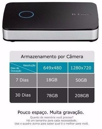 kit ip d-link nvr-202l + 2 câmeras sem fio dcs 942l + hd 1tb
