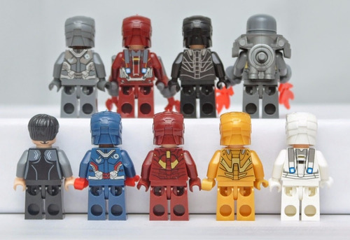 kit iron man - homem de ferro - 9 minifigures pronta entrega