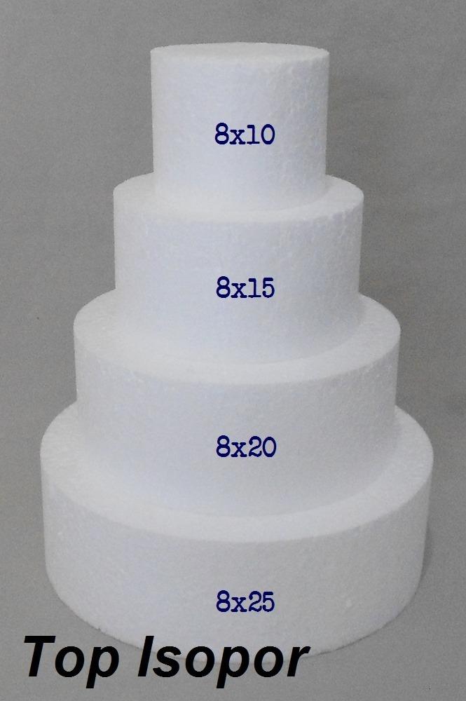 ee51cf90a kit isopor para bolo falso- 10 15 20 25x8 - redondo. Carregando zoom.