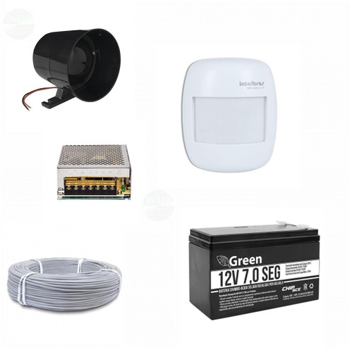 kit ivp 4000 smart sf  sirene 120 dbi  preta + acessorios