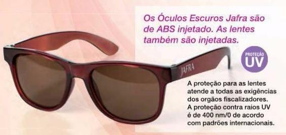 d90a22a20f7b9 Kit Jafra Protetor Solar + Óculos. De 260