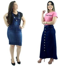 cd355216e3d1 Saia Jeans Evangelica - Saias Femininos Azul em São Paulo ao melhor preço  no Mercado Livre Brasil