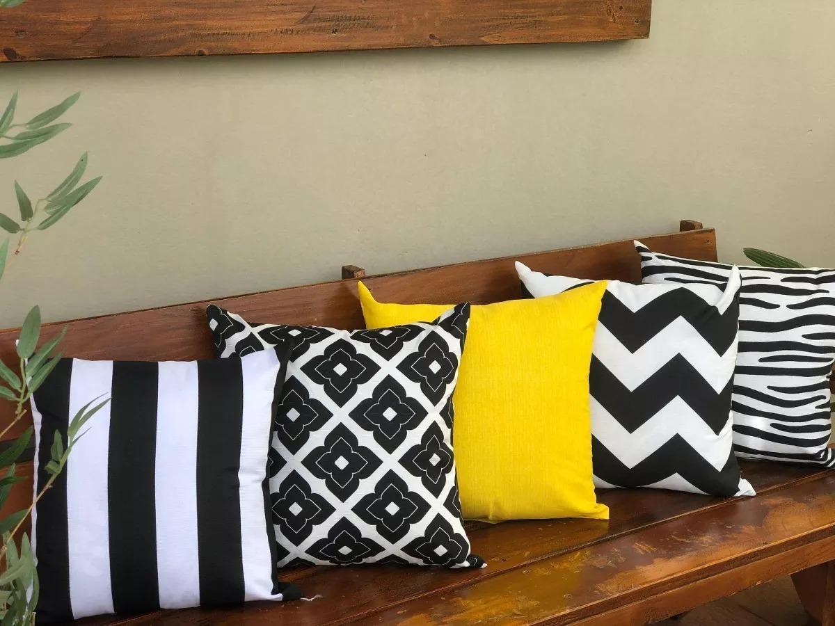 414a5b742 kit jogo 10 almofadas decorativas cheias preto e branco. Carregando zoom.