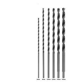 Kit Jogo 6 Brocas Mourão Madeira Longa (6,8,10,12,14 E 16mm)