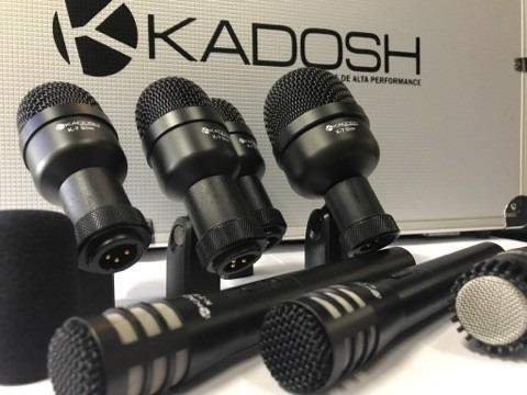 kit jogo 7 microfone bateria kadosh k-7 slim case pro