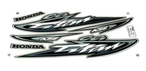 kit jogo adesivo moto titan125 kse 2003 prata
