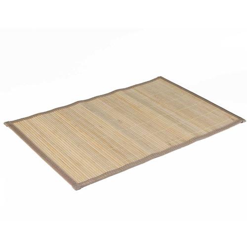 kit jogo americano 4 pcs em bambu natural bege - conthey