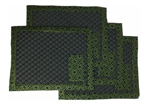kit jogo americano de natal verde 4 peças para mesa jantar