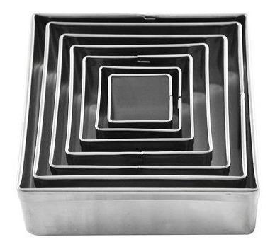 kit jogo  aro inox cortador oval / redondo e quadrado lisos