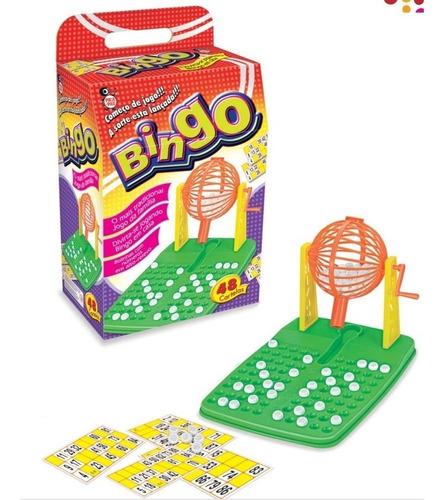 kit jogo bingo completo com 48 cartelas globo giratorio tabu