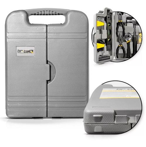 kit jogo caixa de ferramentas 129 peças + maleta br torq