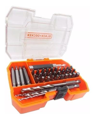 kit jogo de bits pontas e brocas 45 peças black decker a7234