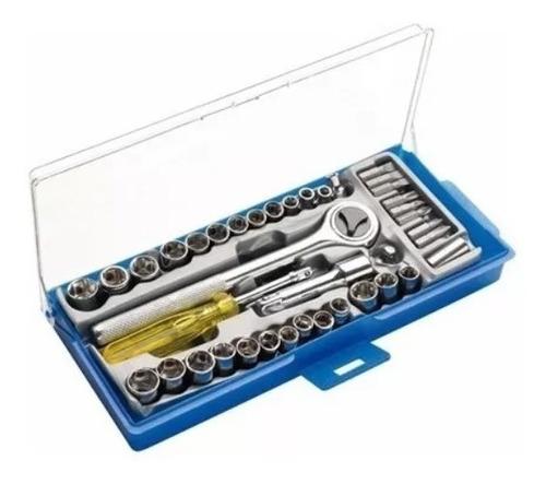 kit jogo de chave catraca ferramentas reversível jogo soquetes 40 pç eda soquetes de encaixe bits phillips
