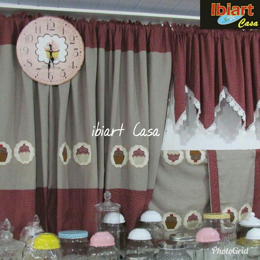 Kit Jogo De Cozinha 4 Pe As Cupcake Patchwork R 119 00 Em Mercado